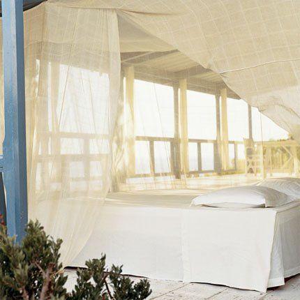 Une chambre d'été directement installée en extérieur