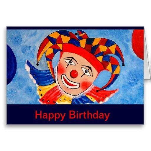 25 melhores ideias de Happy birthday clown no Pinterest – Clown Birthday Cards