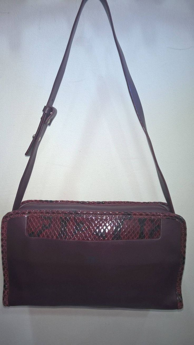 ENRICO COVERI Vintage '80 Bag Women's ( Borsa ) Bag Leather Bordeaux by AlternativeByGeorge on Etsy