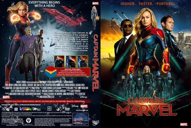 Captain Marvel Dvd Custom Cover Custom Dvd Cover Designs Captain