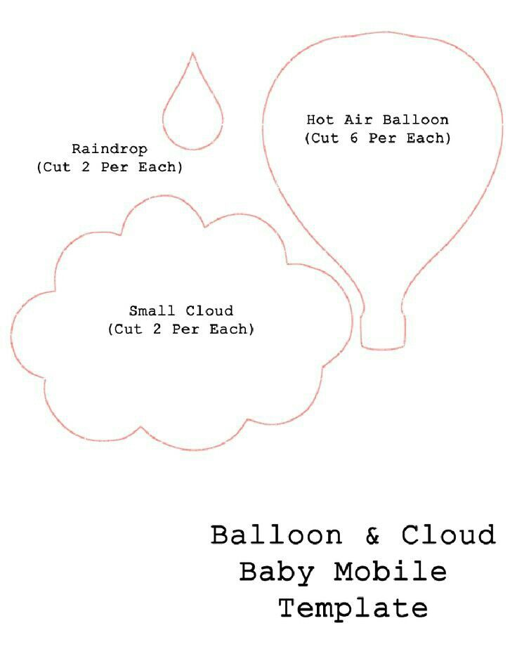 Cloud raindrop and hot air balloon