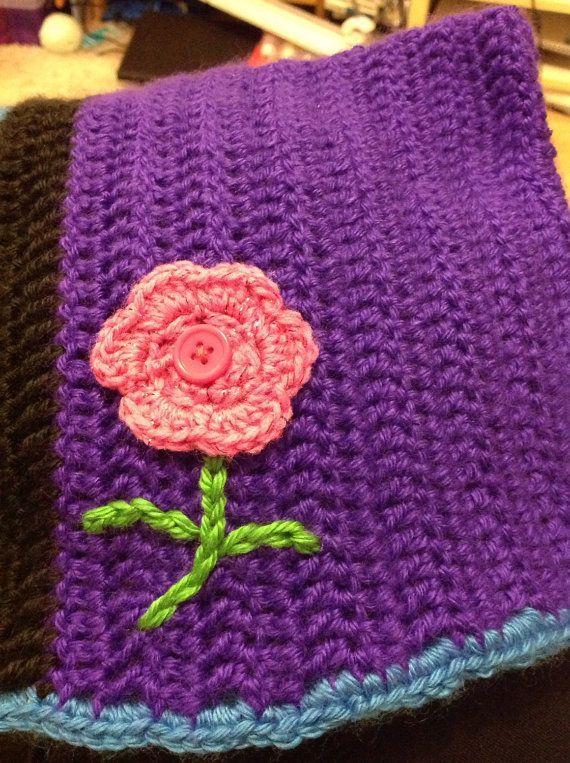Children's Aran crocheted bonnet crocheted hat by ChickFromLeeds