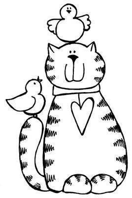 Рукоделие Вязание  cat quilt patterns art drawings for