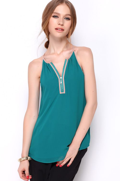 Andrina Top in Teal on Emma Stine Limited