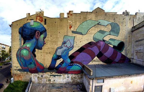 Łódź mural
