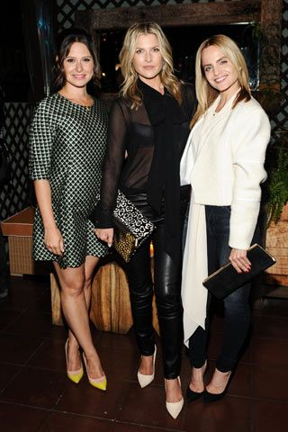 Katie Lowes, Ali Larter, and Mena Suvari celebrate #FallforJBRAND with #ELLE.