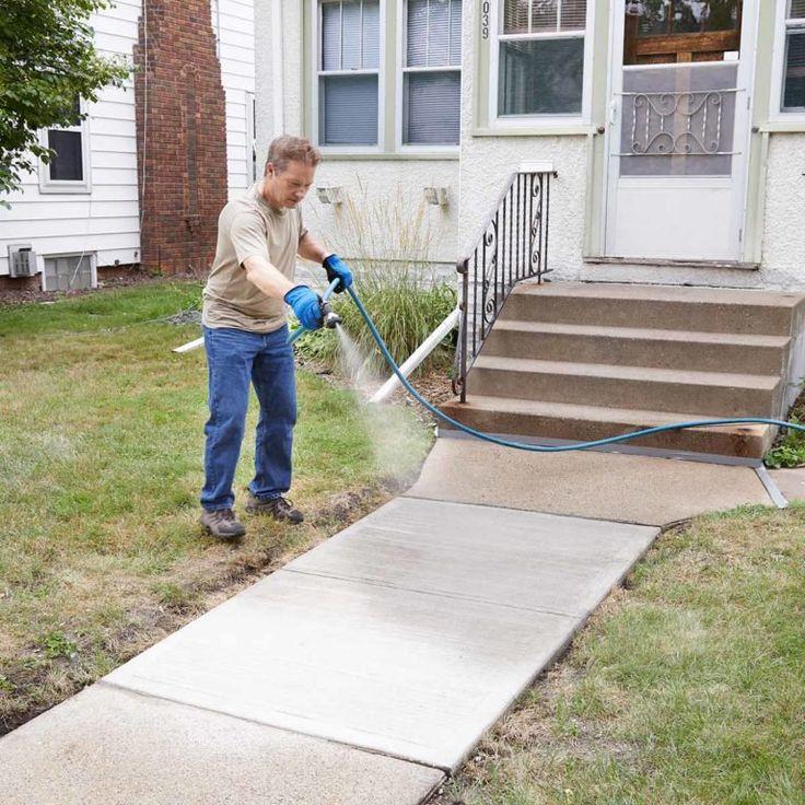 Resurfacing a Sidewalk is Easy to DIY Concrete walkway