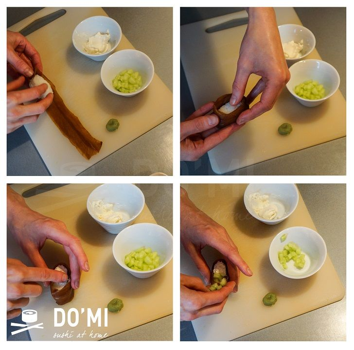 Gunkan sushi z tykwy