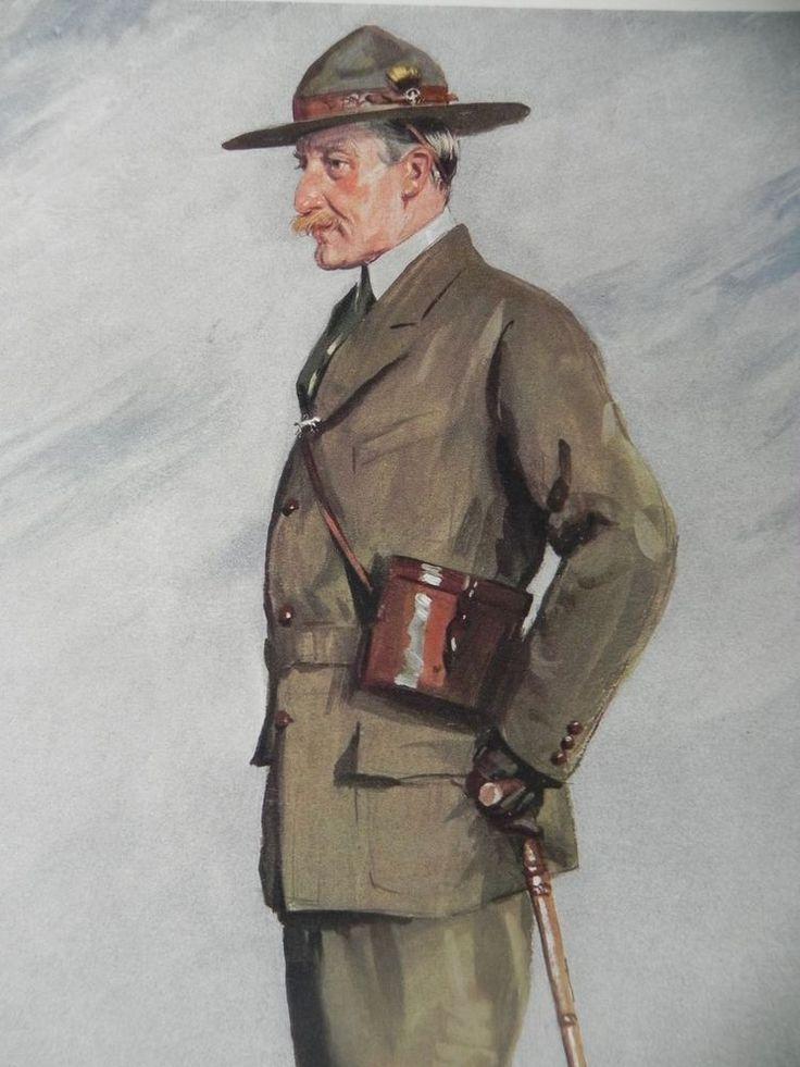 Original 1911 Vanity Fair Print ~ Lt-Gen. Sir Robert Baden - Powell