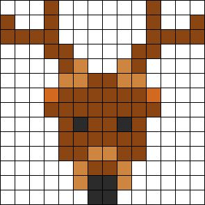 Deer Perler Perler Bead Pattern
