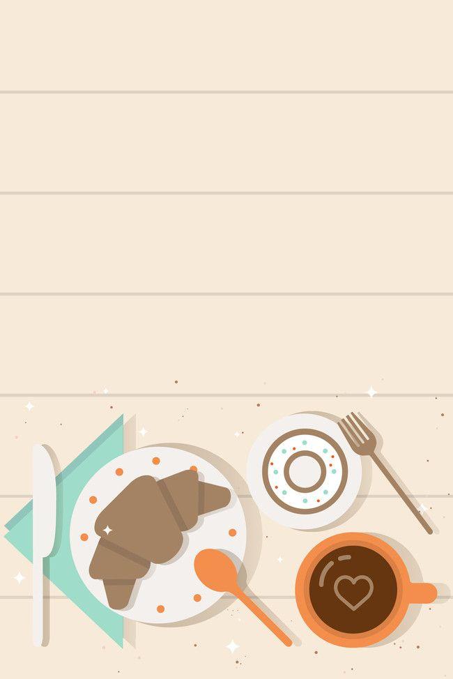 Vector Simple Flat Snack Restaurant Food in 2020 Food poster design Wallpaper powerpoint Scrapbook recipe book