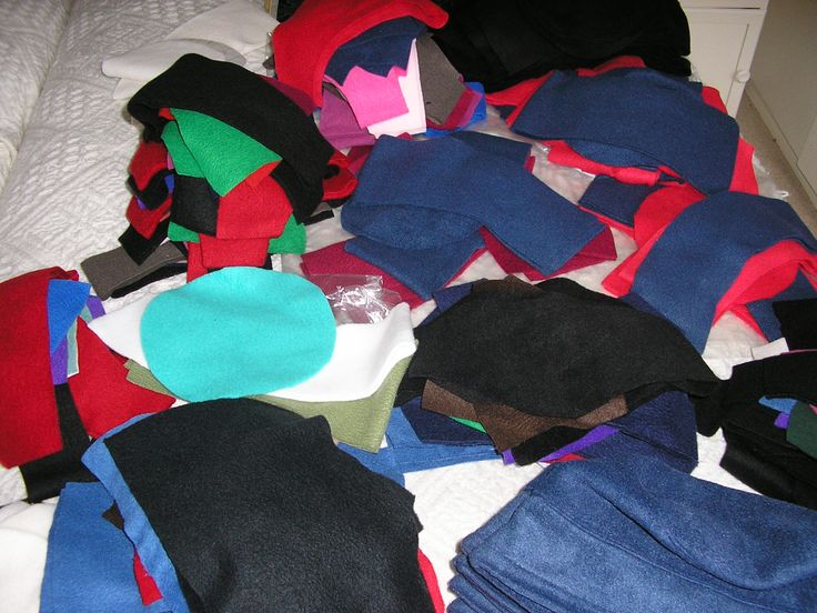 Hats ready for making.