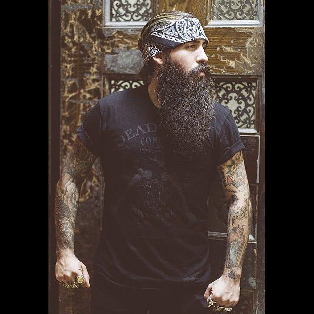 Trig Perez - beautiful full thick long black beard and mustache #beardsforever