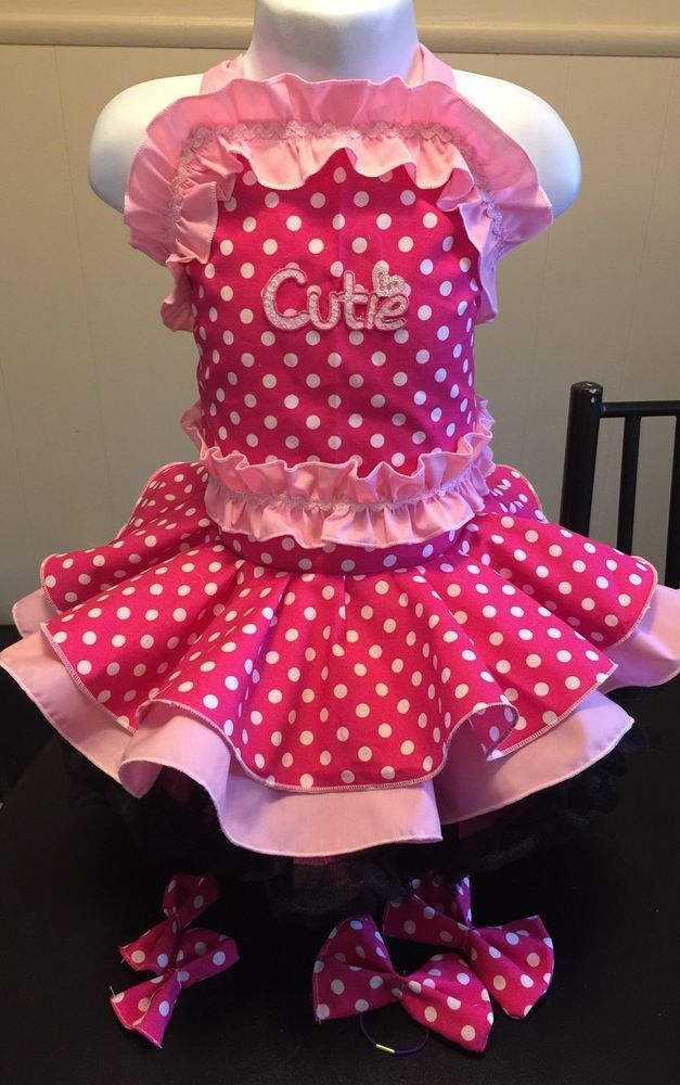 National Pageant Polka Dot Pretty In Pink Wear OOC Casual Wear  Size 18mos-3t  | eBay