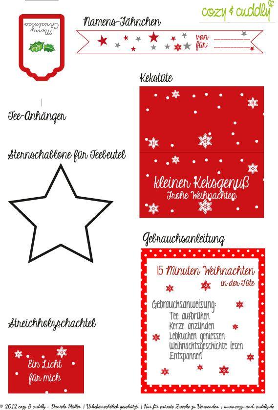 Weihnachtsne in der Tüte Printable
