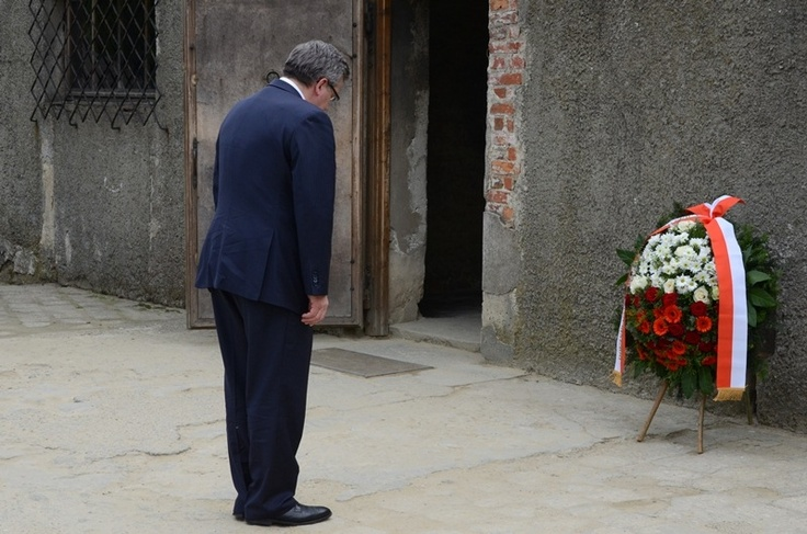 The President of the Republic of Poland Bronisław Komorowski visited the Auschwitz Memorial on May 17, 2013.