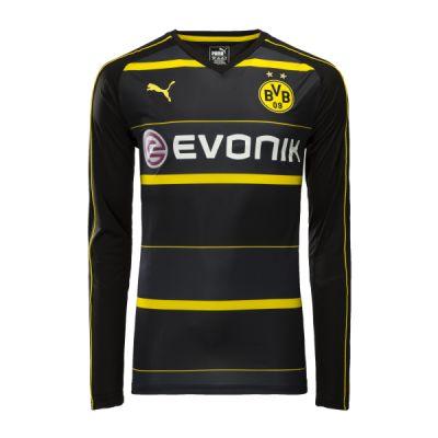BVB Borussia Dortmund 16-17 Udebane Trøje Langærmet.  http://www.fodboldsports.com/bvb-borussia-dortmund-16-17-udebane-troje-langermet.  #fodboldtrøjer