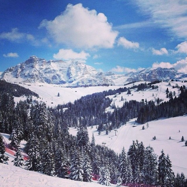 While having a vacation in Val Gardena you should visit Alta Badia skisystem. There the view is wonderfull and you can either enjoy our skiing or take a little challenge on the Gran Risa world cup slope. Can you beat our record 1m 40s? emoji #alpstafetten #valgardena #stsalpresor #skists #altabadia #granrisa