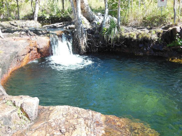 Just a 90-minute drive from Darwin is Buley Rockhole in Litchfield National Park, Australia, one of several swimming hoes in the park
