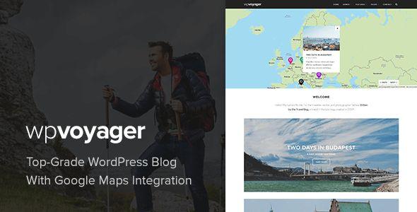 WPVoyager. Premium Travel Blog Theme for WordPress with a bold modern feel.