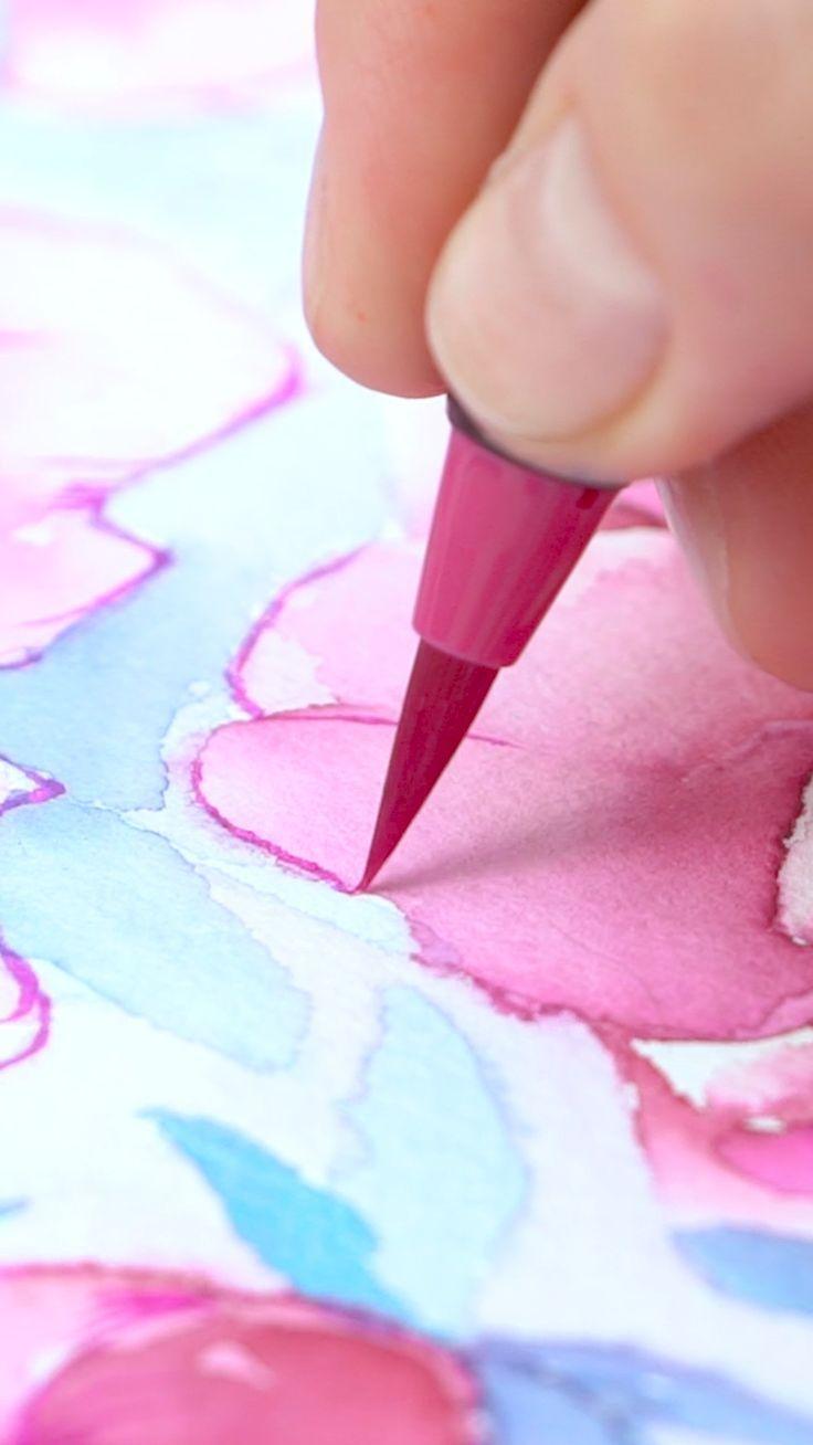 Real Brush Pens Set Of 96 In 2020 Watercolor Art Pen