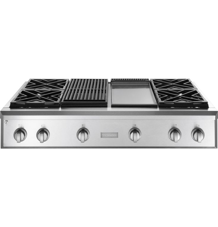 "ZGU484NGPSS - Monogram® 48"" Professional Gas Rangetop with 4 Burners, Grill, and Griddle (Natural Gas) - The Monogram Collection"
