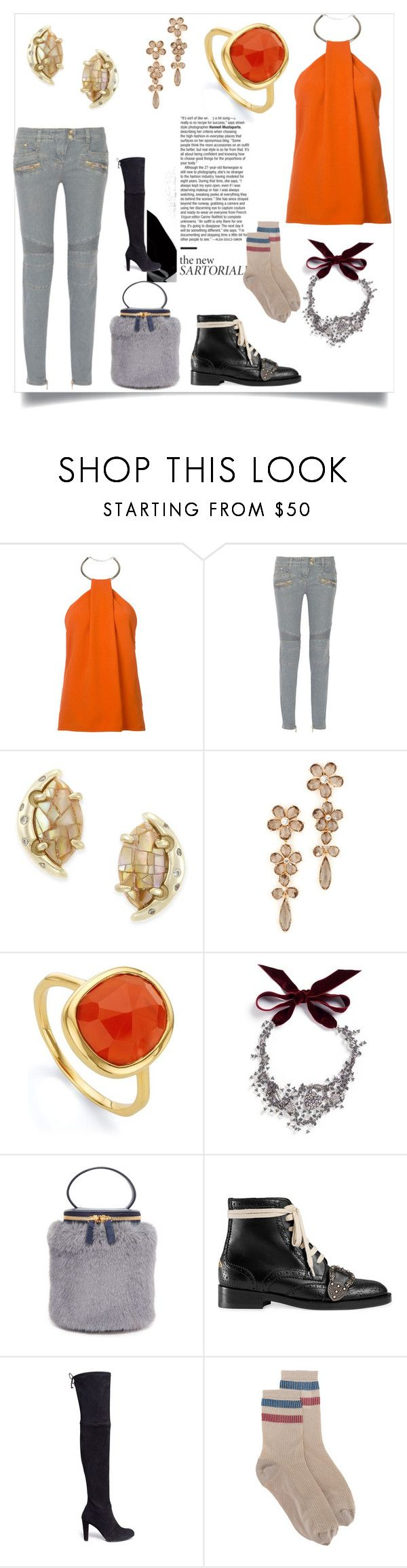 """""""Set sale offer"""" by kristeen9 ❤ liked on Polyvore featuring Thierry Mugler, Balmain, Kendra Scott, Kate Spade, Monica Vinader, Lulu Frost, Milma, Gucci, Stuart Weitzman and RED Valentino"""