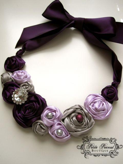 Plum statement necklace.