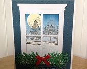 Stampin Up Christmas card - season's greeting in Gold. $3.50, via Etsy.
