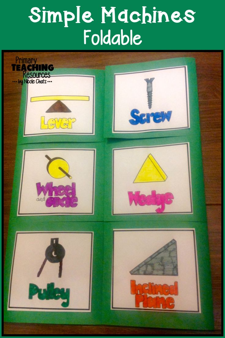 Simple Machines Foldable (grades 2-5)                                                                                                                                                                                 More