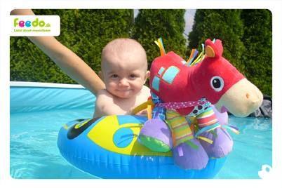 Ferdo ma ťahá v člne po vode :)