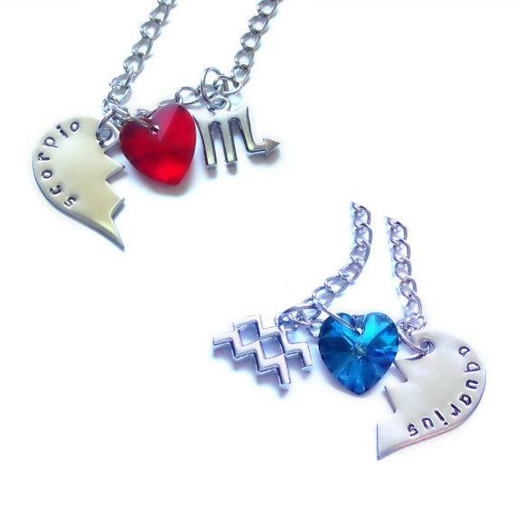 Fairy Tail Aquarius & Scorpio Lovers/Best Friends Necklaces