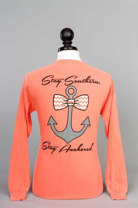 Mint Southern Anchor Logo Pocket Tee by SoAnchor on Etsy