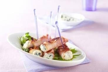 Roulade de roquefort au bacon et au raifort, les recettes de nos chefs
