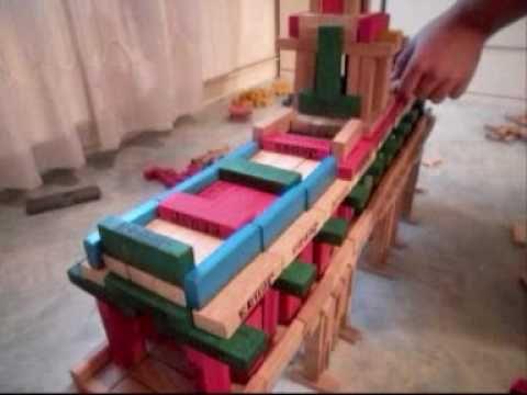 een brug bouwen met kapla