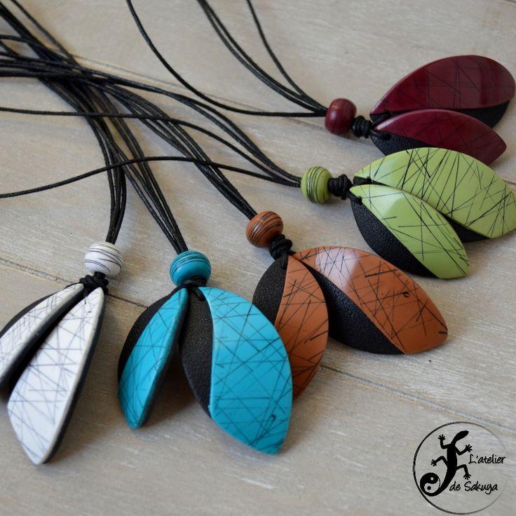 Grande nouveauté de cette saison dans l'atelier, une série librement inspirée du raku. des bijoux très légers et colorés !