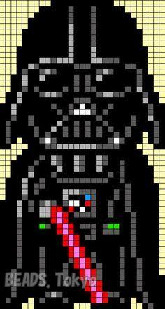 Darth Vader - Star Wars Perler Bead Pattern - BEADS.Tokyo