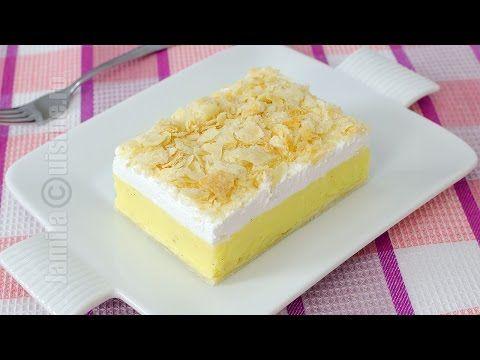 Cremsnit cu crema de vanilie - reteta video | JamilaCuisine