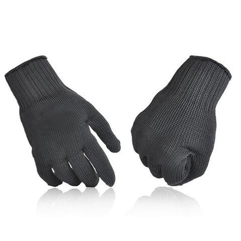 1 Pair kevlar Gloves Proof Protect Stainless Steel Wire Safety Gloves Cut Metal Mesh Butcher Anti-cutting breathable Travel Kit