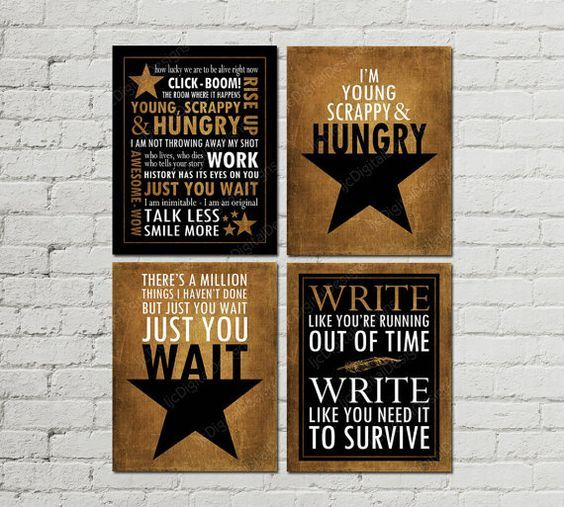 Printable Set Of Hamilton Musical Quotes By