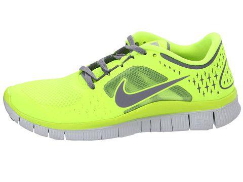 Nike Free Run 3 Des Femmes De Chaussures De Course - Diarrhée Jaune Fluorescent