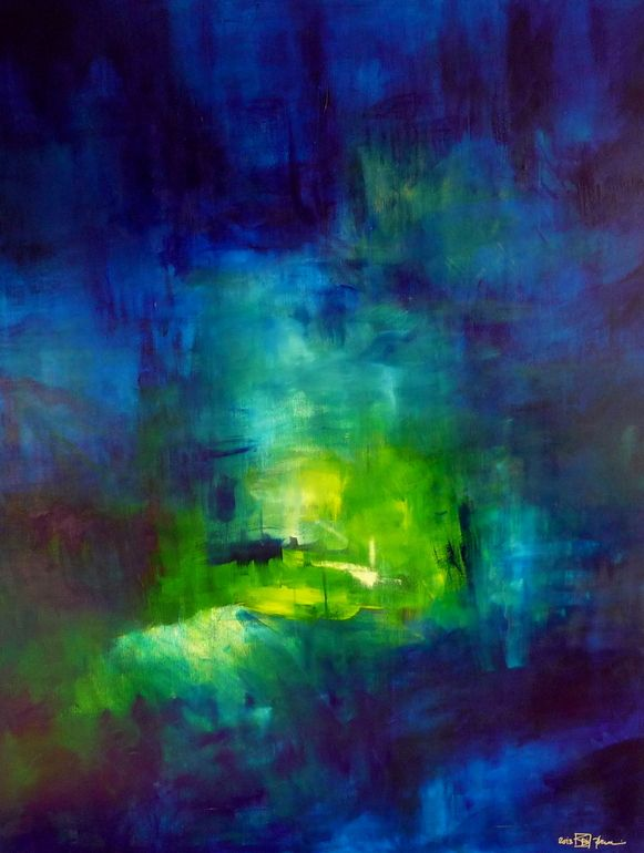 """Saatchi Online Artist: Christian Bahr; Oil 2013 Painting """"LET ME LIVE WHERE THERE IS LIGHT"""""""