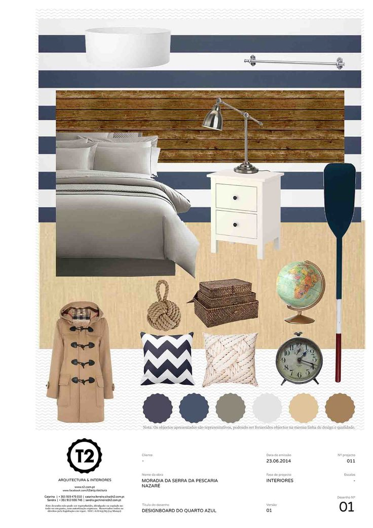 Blue bedroom, house in Serra da Pescaria, Nazaré, Portugal (project #011). By T2 Arquitectura & Interiores