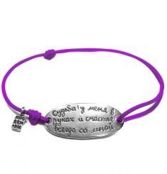 Стильные браслеты на нити с цитатами для женщин