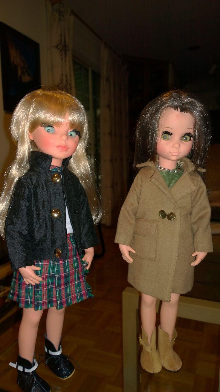 My girls wearing Betty Viano's beautiful creations