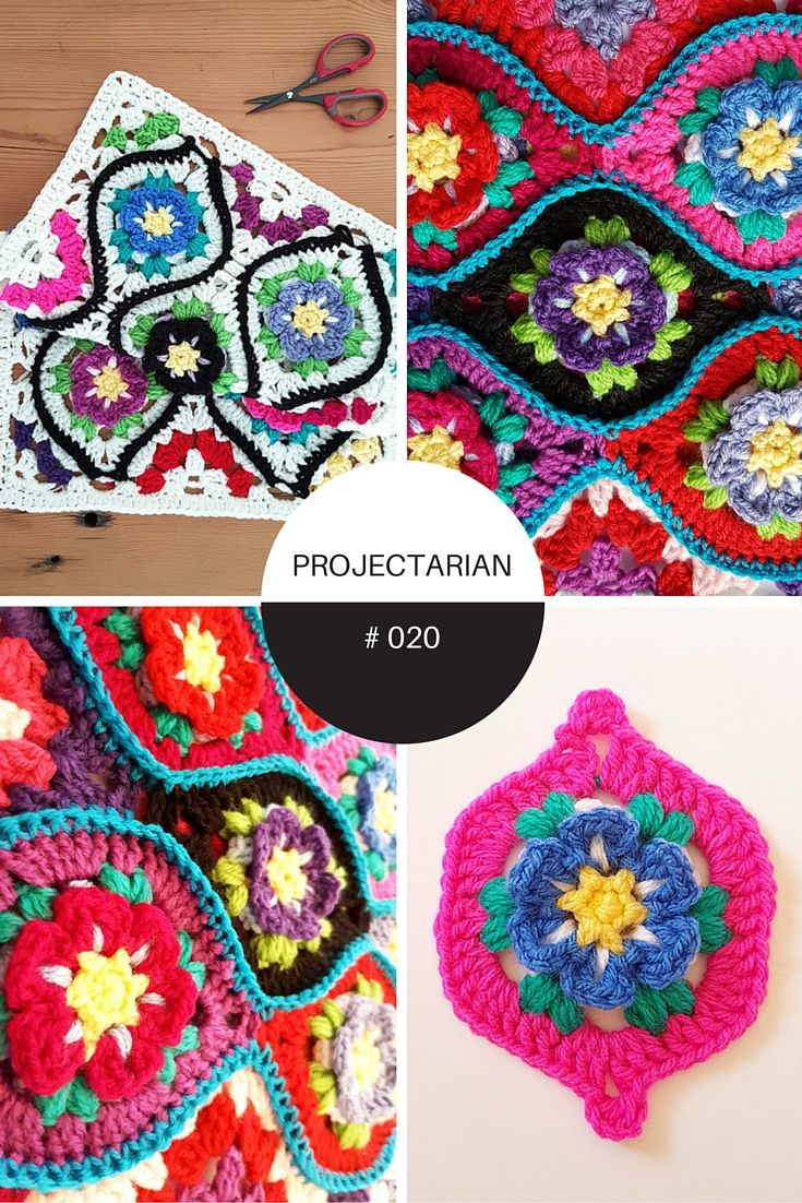 Moroccan Garden: Free crochet pattern for a floral Ogee tile with halves and quarter pieces for squaring off. Make blankets, throws, afghans, scarves, bags, shawls - anything! http://www.projectarian.com/2016/06/09/moroccan-garden-tiles-free-crochet-pattern/