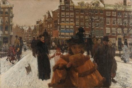 George Hendrik Breitner, Bridge over Singel near Paleisstraat in Amsterdam, ca. 1897