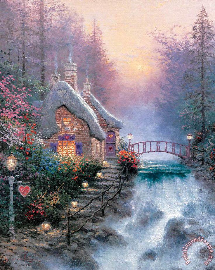 Sweetheart Cottage Ii Painting by Thomas Kinkade