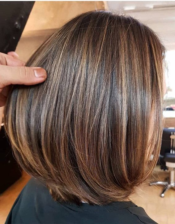 Elegant Brown Hair Shades Highlights For Short Hair Honey Brown Hair Brown Hair With Blonde Highlights Short Hair Highlights