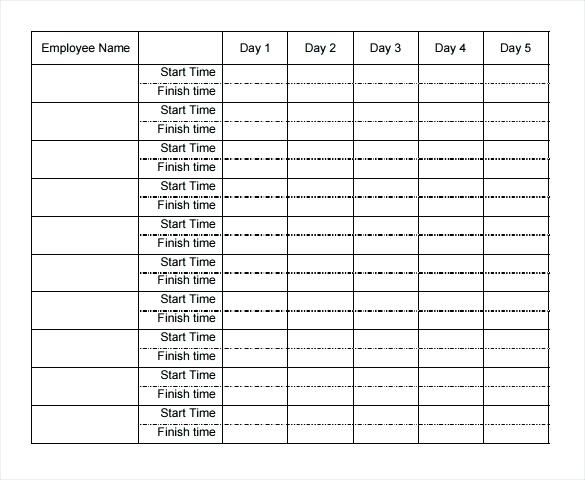 Excel Template Weekly Templates Free Sample Example Format